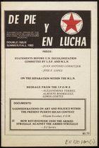 De pie y en lucha : theoretical organ of the Movimiento de Liberación Nacional Puertoriqueño (MLN-PR) (b2947504)