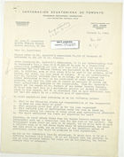 Letter from David Yale to John T. Lassiter re: Marcabeli Trail, January 8, 1943