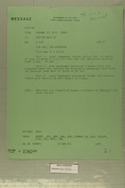 Message from USARMA Tel Aviv Israel to Deptar Wash DC, August, 1957