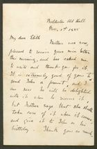 Letter from Emily M. Bakewell to Edith Thompson, November 1, 1885