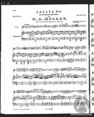 Sonate No. 27 für Pianoforte und Violine