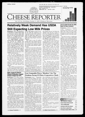 Cheese Reporter, Vol. 127, No. 14, Friday, October 11, 2002