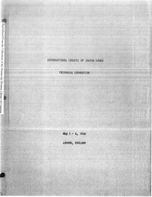 7th Triennial Convention, London, May 1-6, 1966