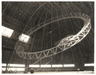 Photograph Raising the First Main Frame of a Dirigible, ca. 1933