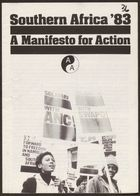Anti-Apartheid Movement pamphlet, re: Southern Africa '83: A Manifesto for Action, 1983