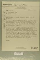 Telegram from John Sabini in Jerusalem to Secretary of State, September 11, 1956