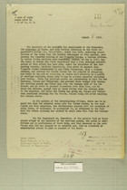 Letter from Secretary of War to Secretary of State, Aug. 8, 1919