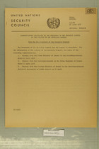 Communications Circulated by the President of the Security Council at the Request of the Secretary-General, 16 April 1956