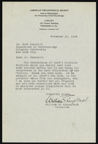 Letter from William E. Lingelbach to Ruth Benedict, November 18, 1946