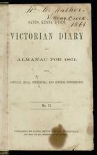 Diary of William Crawford Walker, 1852-1863