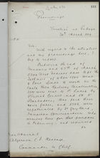 Letter from Captain W. Wiseman to Rear Admiral Algernon C. F. Heneage re: Proceedings at Isthmus, March 30, 1889, with Paraphrase of Telegram to Secretary of Admiralty, March 26, 1889