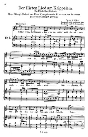 Der Hirten Lied am Krippelein