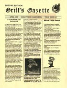 Griff's Gazette, Volume 2, Issue 4.5, April 1988