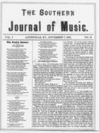 The Southern Journal of Music,  Vol. 1, no. 13, November 7, 1868