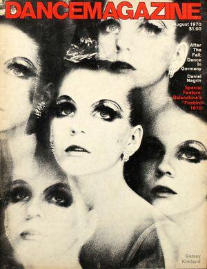 Dance Magazine, Vol. 44, no. 8, August, 1970