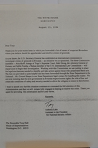 Letter from Anthony Lake to Tony Hall re: Rwandans Suspected of Genocide