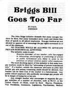 Briggs Bill Goes Too Far
