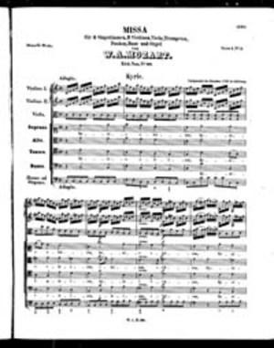 Missa, K. 66, C Major