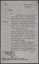 Letter from J. R. Vaughan Russell to Foreign Office re: French High Commissioner's Speech, May 28, 1926
