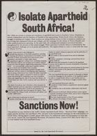 Anti-Apartheid Movement petition, re: Isolate Apartheid South Africa!, March 1982