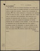 Memo from P. Holden to Mr. M. L. Rayner re: Difficulty in Placing 'Coloured Workers' in the Coal Industry, June 23, 1948