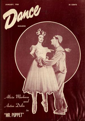 Dance Magazine, Vol. 24, no. 1, January, 1950