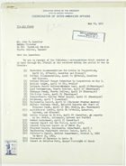 Letter from John M. Clark to John T. Lassiter re: El Oro Technical Mission Correspondence, May 29, 1943