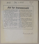 Aid for Transsexuals and The Diagnosis and Treatment of Transvestites and Transsexuals