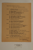 Border Police Outpost Bärnau: List of the Observation Points, Undated