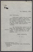 Letter from D. Emery to S.G.G. Wilkinson, February 9, 1953