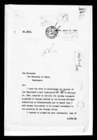 Correspondence re: Bill for Railway Transport Presented to General Harbord, 1920