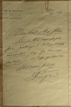 Magnus Hirschfeld Scrapbook: Brief No. II. Eigenhändige Informationen Dr. Hirschfelds an Joachim Gehlsen