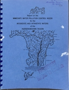 Report on Immediate Water Pollution Control Needs for the Interstate and Intrastate Waters of the Hudson-Mohawk Region