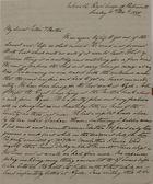 Letter from George Leslie to William and Jane Leslie, November 11, 1838