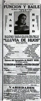 Flyer for a Performance Benefitting Marita Reid.