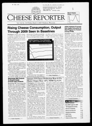 Cheese Reporter, Vol. 124, No. 34, Friday, March 3, 2000