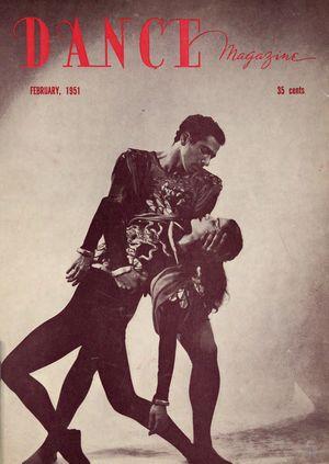 Dance Magazine, Vol. 25, no. 2, February, 1951