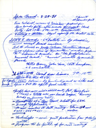 Handwritten Minutes for SPREE Board Meeting, March 29, 1971