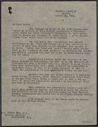 Letter from Stanley Irving to R. H. Hadow, re: Drew Pearson Article in Panama American Critical of Prime Minister, August 28, 1944