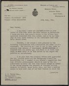 Letter from H. N. Grundy to G. C. Veysey, re: Report from Arnold Watson on colour bar issue on Merseyside, July 26, 1944