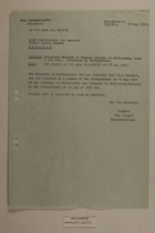 Memo from Dr. Riedl re: Margarete Meinert, May 18, 1951