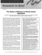 Research in Brief: The Status of Women in Rhode Island, Highlights, 2002