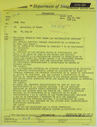 Telegram from U.S. Embassy in Bern to Secretary of State re: Cuban Law Nationalizing American Chancery, July 25, 1963