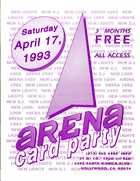 Arena Card Party flier