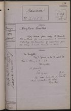 Correspondence Cover Sheet re: Haitian Exiles, October 28, 1892
