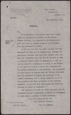 Letter from C. A. Kemball to the Under Secretary of State, Foreign Office, September 4, 1918