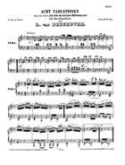 Acht Variationen über das Lied