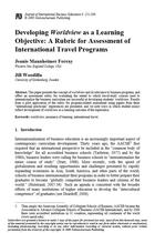 Developing Worldview as a Learning Objective: A Rubric for Assessment of International Travel Programs