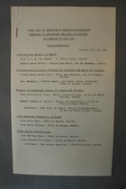 Final List of Delegates, July 1, 1931 [Inter American Commisson of Women]