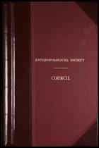 Ethnological Society of London: Minutes. 8 Jan. 1863-18 Jan. 1870